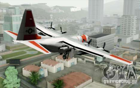 C-130H Hercules Coast Guard для GTA San Andreas вид слева