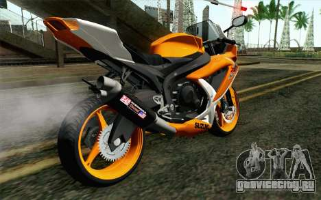 Suzuki GSX-R 600 2015 Orange для GTA San Andreas вид слева
