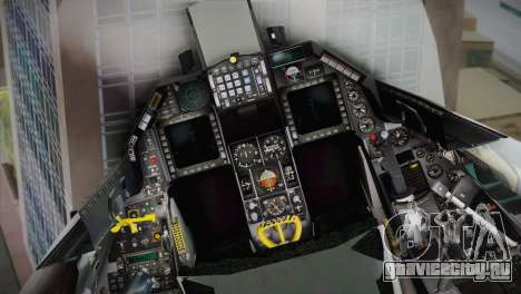 F-16 Fighting Falcon RNLAF для GTA San Andreas вид сзади