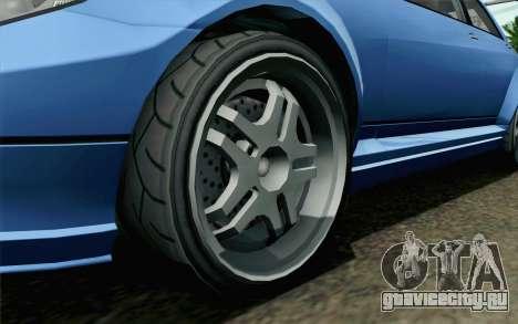 GTA 5 Benefactor Schafter для GTA San Andreas вид сзади слева