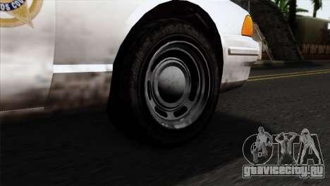 GTA 5 Vapid Stanier Sheriff для GTA San Andreas вид сзади слева