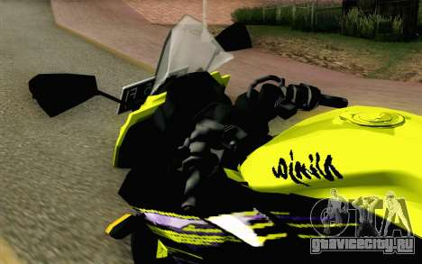 Kawasaki Ninja 250RR Mono Yellow для GTA San Andreas вид сзади