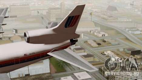 Lookheed L-1011 United Als для GTA San Andreas вид сзади слева