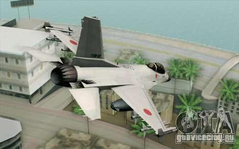 Mitsubishi F-2 White JASDF Skin для GTA San Andreas вид слева