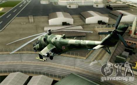 Mi-24D Polish Air Force для GTA San Andreas вид слева