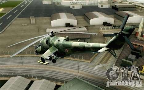Mi-24D Polish Air Force для GTA San Andreas вид слева