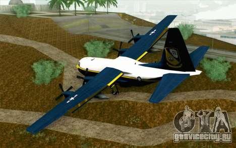 C-130H Hercules Blue Angels для GTA San Andreas вид слева