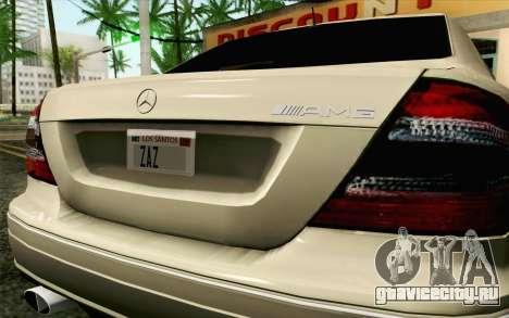 Mercedes-Benz CLK DTM 2004 для GTA San Andreas вид сзади