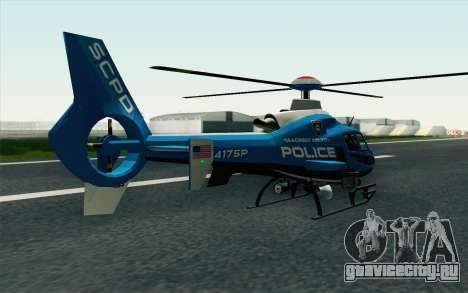 NFS HP 2010 Police Helicopter LVL 2 для GTA San Andreas вид слева