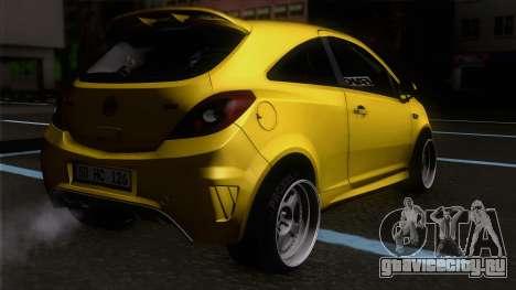 Opel Corsa OPC для GTA San Andreas вид слева