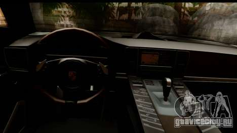 Porsche Panamera Turbo для GTA San Andreas вид изнутри