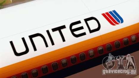 Lookheed L-1011 United Als для GTA San Andreas вид сзади