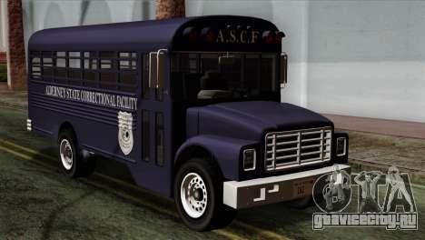 GTA 4 TLaD Prison Bus для GTA San Andreas