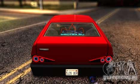 Blista Compact By VeroneProd для GTA San Andreas вид сзади слева