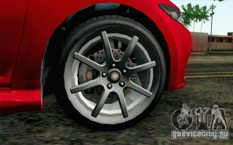 GTA V Dinka Blista для GTA San Andreas вид сзади слева