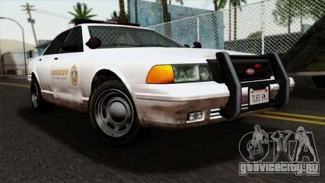 GTA 5 Vapid Stanier Sheriff для GTA San Andreas