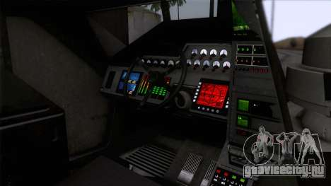 Alien APC M577 для GTA San Andreas вид сзади