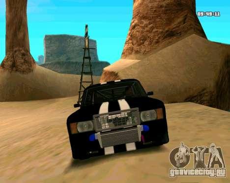 ВАЗ 2107 КОРЧ для GTA San Andreas вид сверху