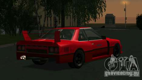 Nissan Skyline RS Turbo F-SPL (R30) для GTA San Andreas вид сзади слева