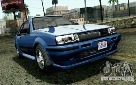 GTA 5 Karin Futo SA Mobile для GTA San Andreas