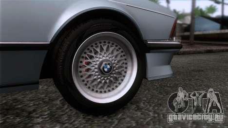 BMW M635 CSi 1984 Stock для GTA San Andreas вид сзади слева