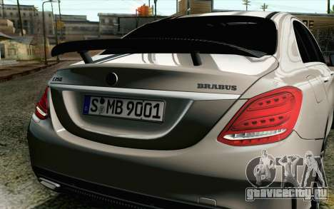 Mercedes-Benz C250 AMG Brabus Biturbo Edition EU для GTA San Andreas вид сзади