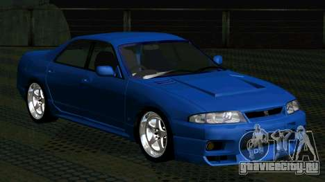 Nissan Skyline R33 4door outech для GTA San Andreas вид слева