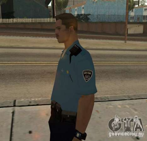 Israeli Police Officer для GTA San Andreas второй скриншот