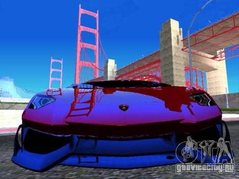 Lamborghini Aventador Novitec Torado для GTA San Andreas вид сзади