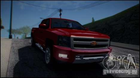 Chevrolet Silverado 1500 HD Stock для GTA San Andreas вид сзади
