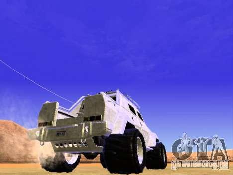 HVY повстанческой Самовывоз для GTA San Andreas вид справа