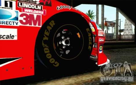 NASCAR Chevrolet Impala 2012 Short Track для GTA San Andreas вид сзади слева