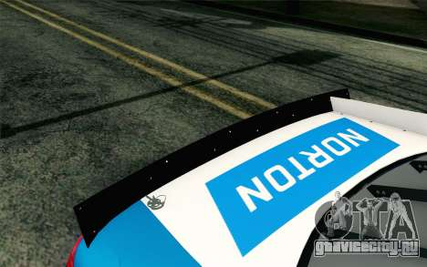 NASCAR Ford Fusion 2012 Plate Track для GTA San Andreas вид сзади