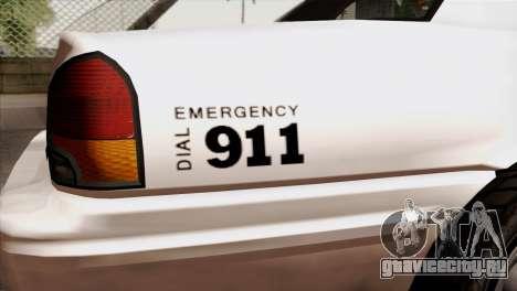 GTA 5 Vapid Stanier Sheriff для GTA San Andreas вид сзади