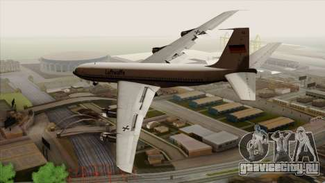 Boeing 707-300 Luftwaffe для GTA San Andreas вид слева
