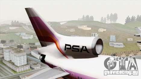 Lookheed L-1011 PSA для GTA San Andreas вид сзади слева