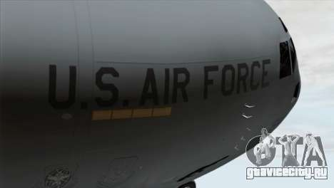 C-17A Globemaster III USAF March для GTA San Andreas вид сзади