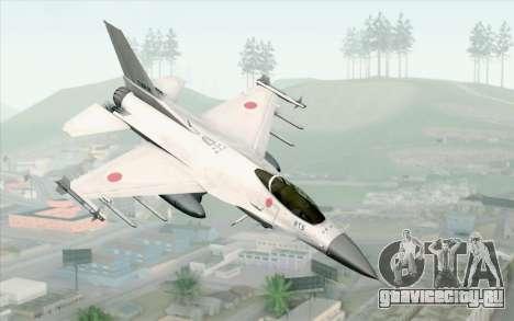 Mitsubishi F-2 White JASDF Skin для GTA San Andreas