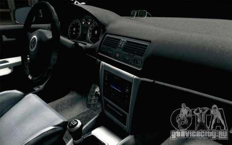 Volkswagen Golf Mk4 2002 Street Daily для GTA San Andreas вид справа