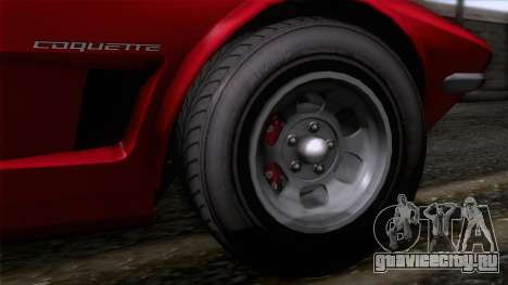 GTA 5 Invetero Coquette Classic HT для GTA San Andreas вид сзади слева