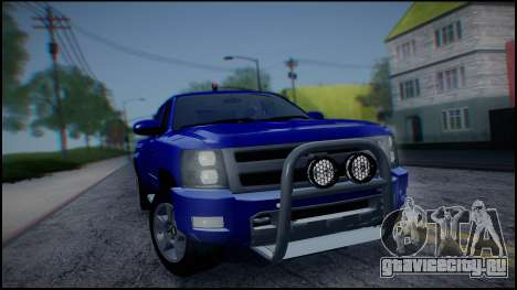 Chevrolet Silverado 1500 HD Stock для GTA San Andreas вид изнутри