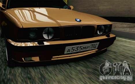 BMW M5 E34 Touring для GTA San Andreas вид сзади