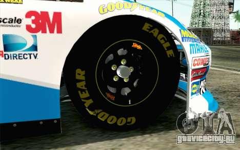 NASCAR Ford Fusion 2012 Plate Track для GTA San Andreas вид сзади слева