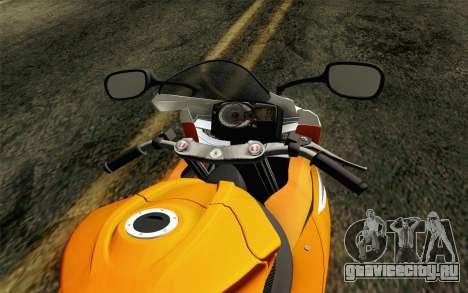 Suzuki GSX-R 600 2015 Orange для GTA San Andreas вид справа