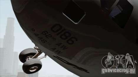 C-17A Globemaster III USAF McChord для GTA San Andreas вид справа