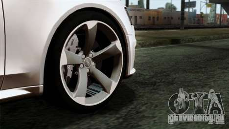 Audi RS4 Avant B8 2013 v3.0 для GTA San Andreas вид сзади слева