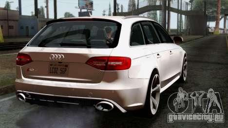 Audi RS4 Avant B8 2013 v3.0 для GTA San Andreas вид слева