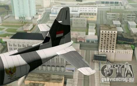 Lockheed C-130 Hercules Indonesian Air Force для GTA San Andreas вид сзади слева