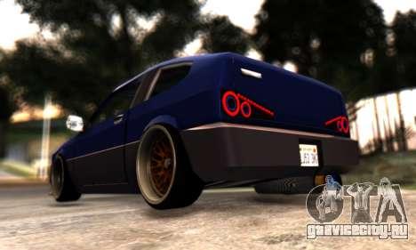 Blista Compact By VeroneProd для GTA San Andreas вид сзади
