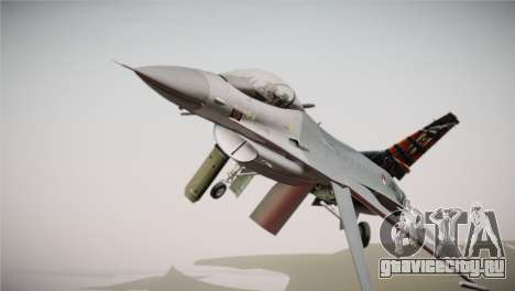 F-16 Fighting Falcon 50th Anniv. of Squadron 313 для GTA San Andreas вид справа